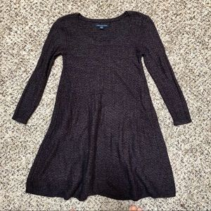 AEO Purple Sweater Dress XS Hangs Just Right Cute